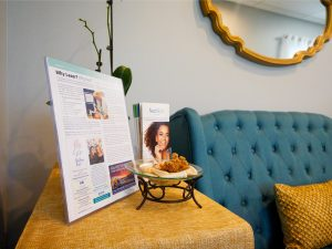 The Ageless Face by Cheryl spa waiting room